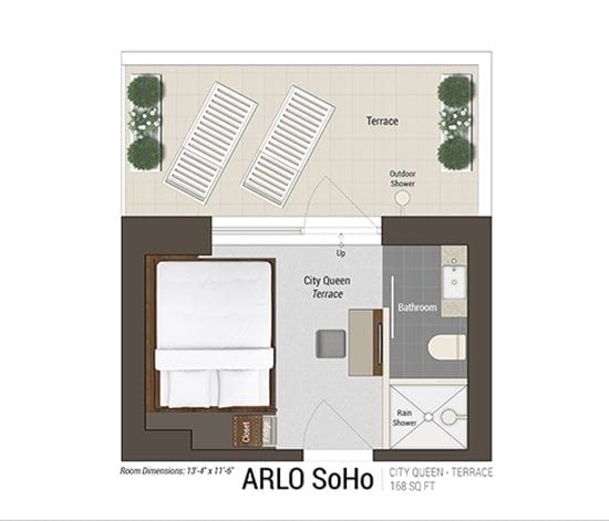 King Room Sky Floor Plan