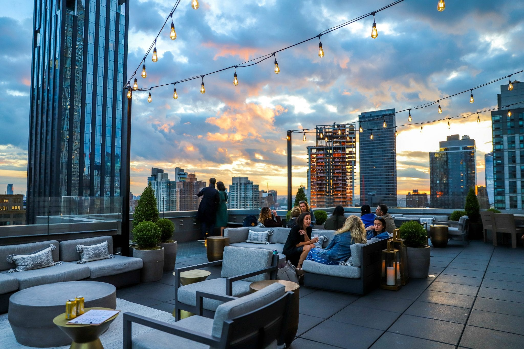art nomad nyc rooftop at dusk