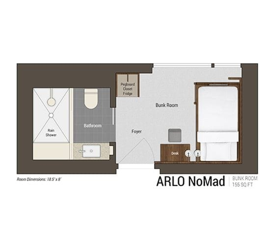 Bunk Room floor plan