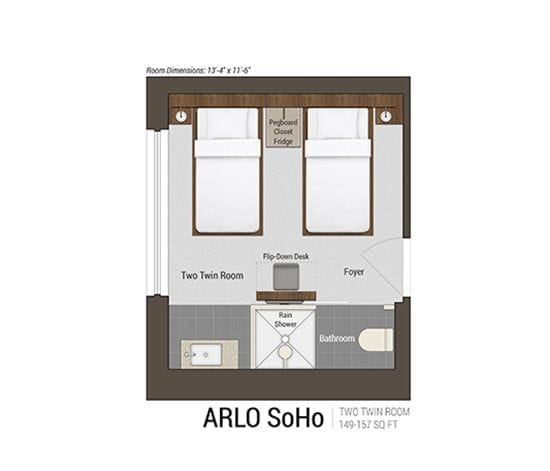 Two Twin Room Floor Plan