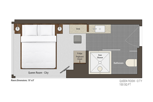 Queen Room City Floor Plan