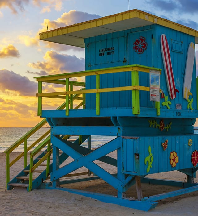 Colorful Lifeguard Towers