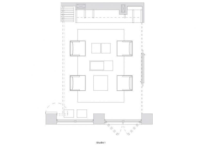 Arlo SoHo Studio Floorplan