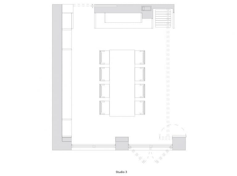 Studio 3 Floor Plan at Soho in NYC