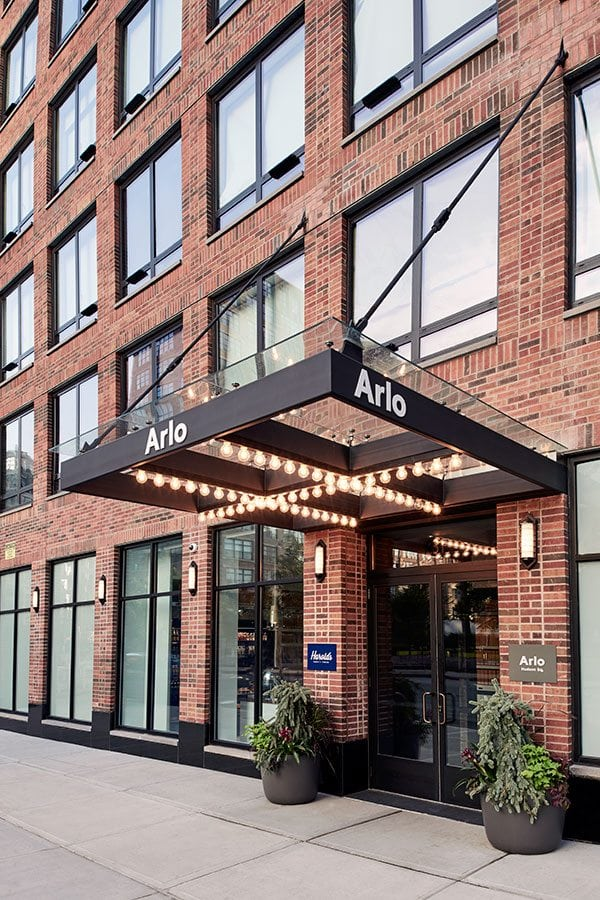Exterior and entrance of Arlo SoHo in the daytime